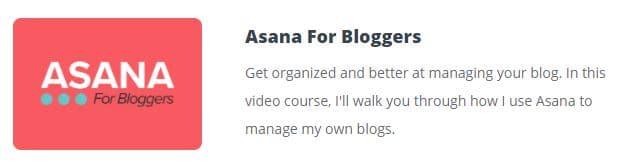 asana course for bloggers