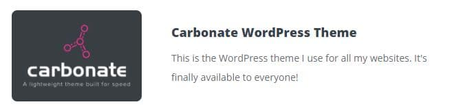 carbonate wordpress theme review