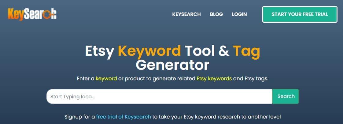 keysearch etsy tag generator