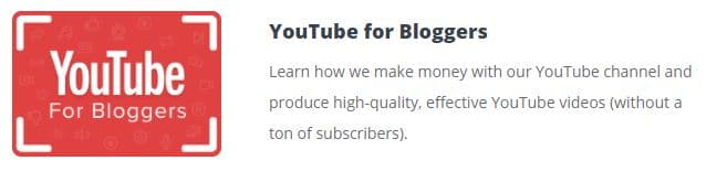 youtube course for bloggers