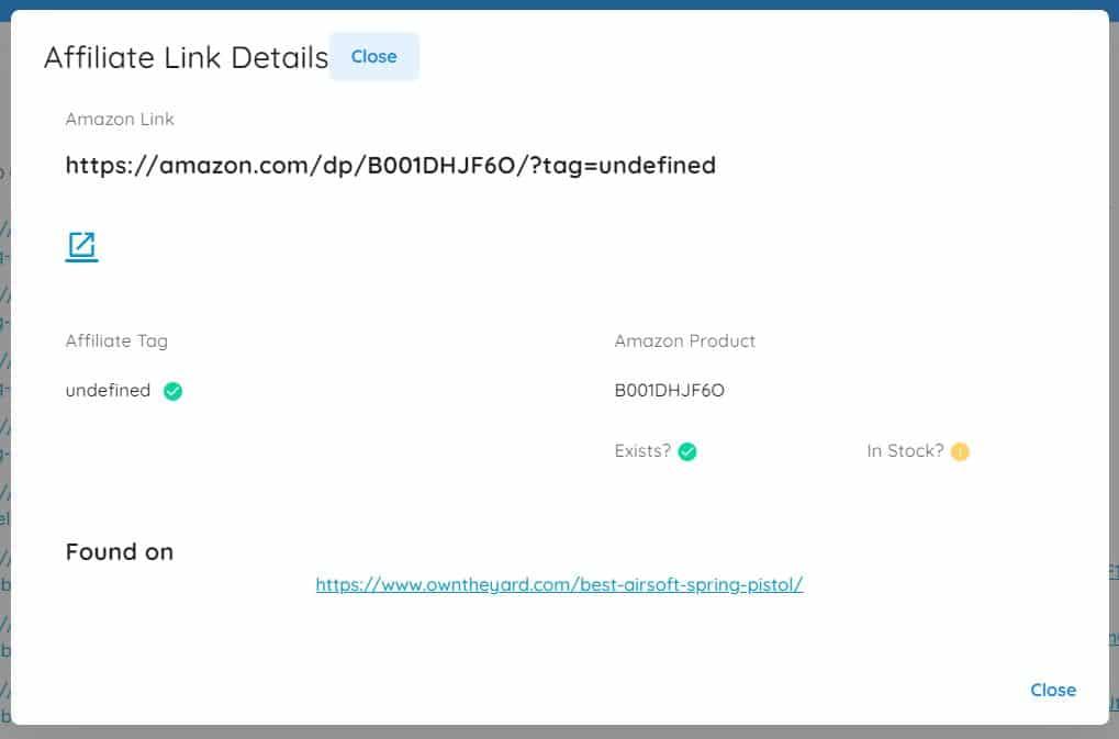 missing amazon affiliate links