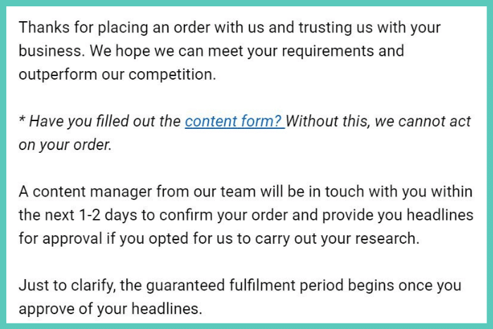 hands off publishing content service