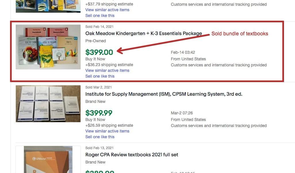 sell textbooks on ebay