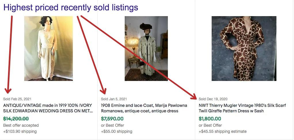 sell vintage clothing on ebay