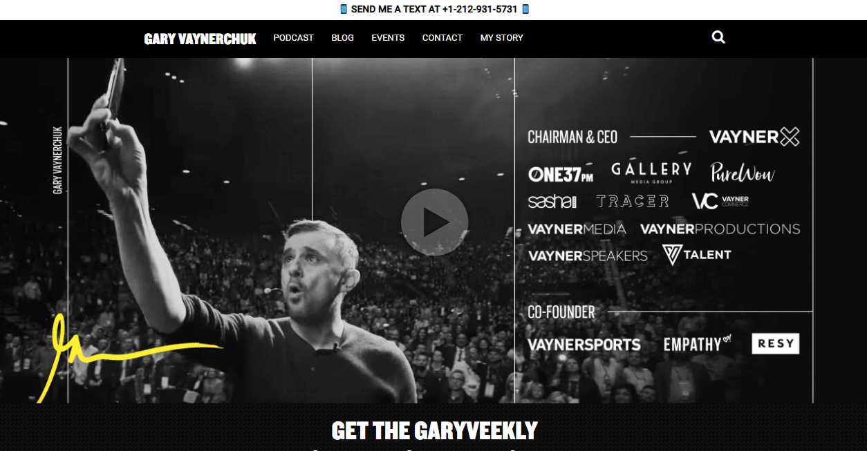 Gary Vaynerchuk person web page
