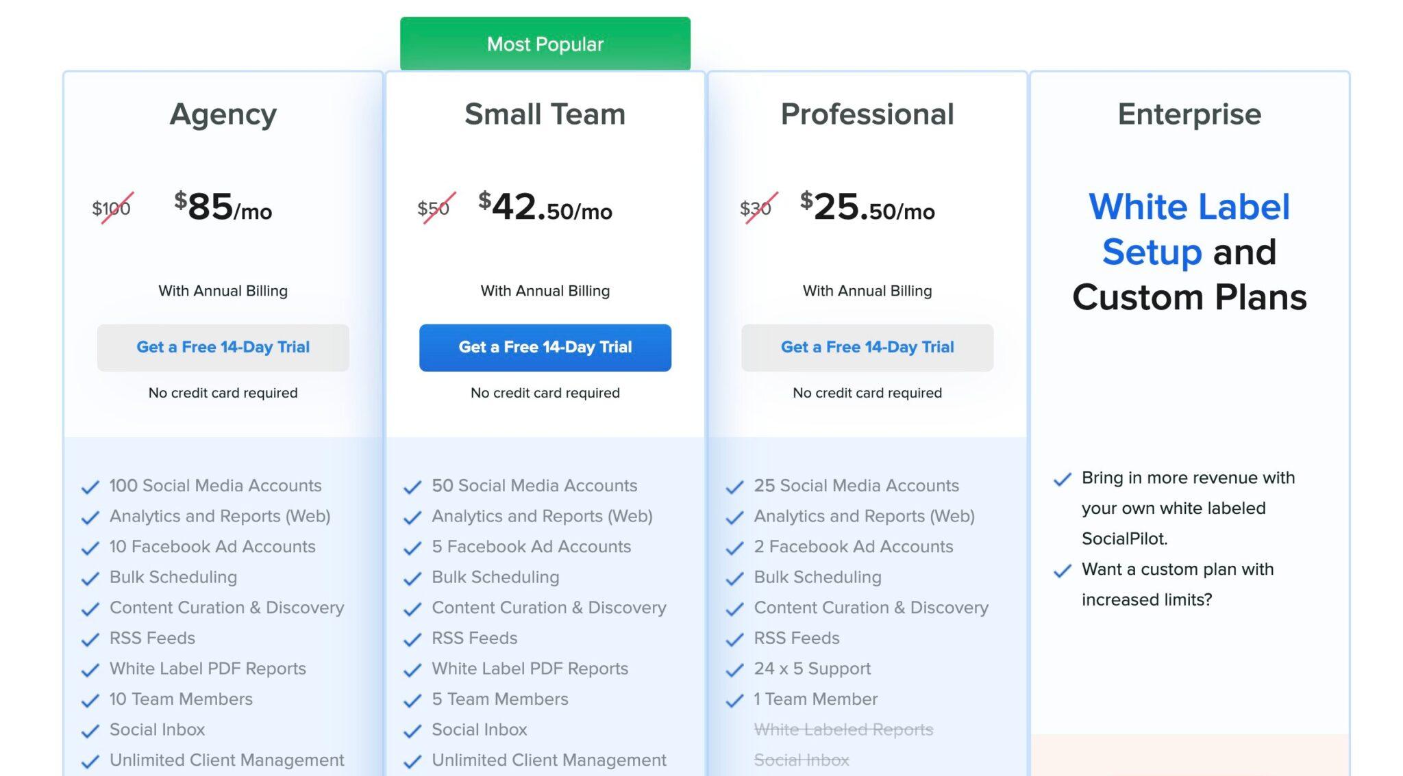 Socialpilot for pinterest Pricing