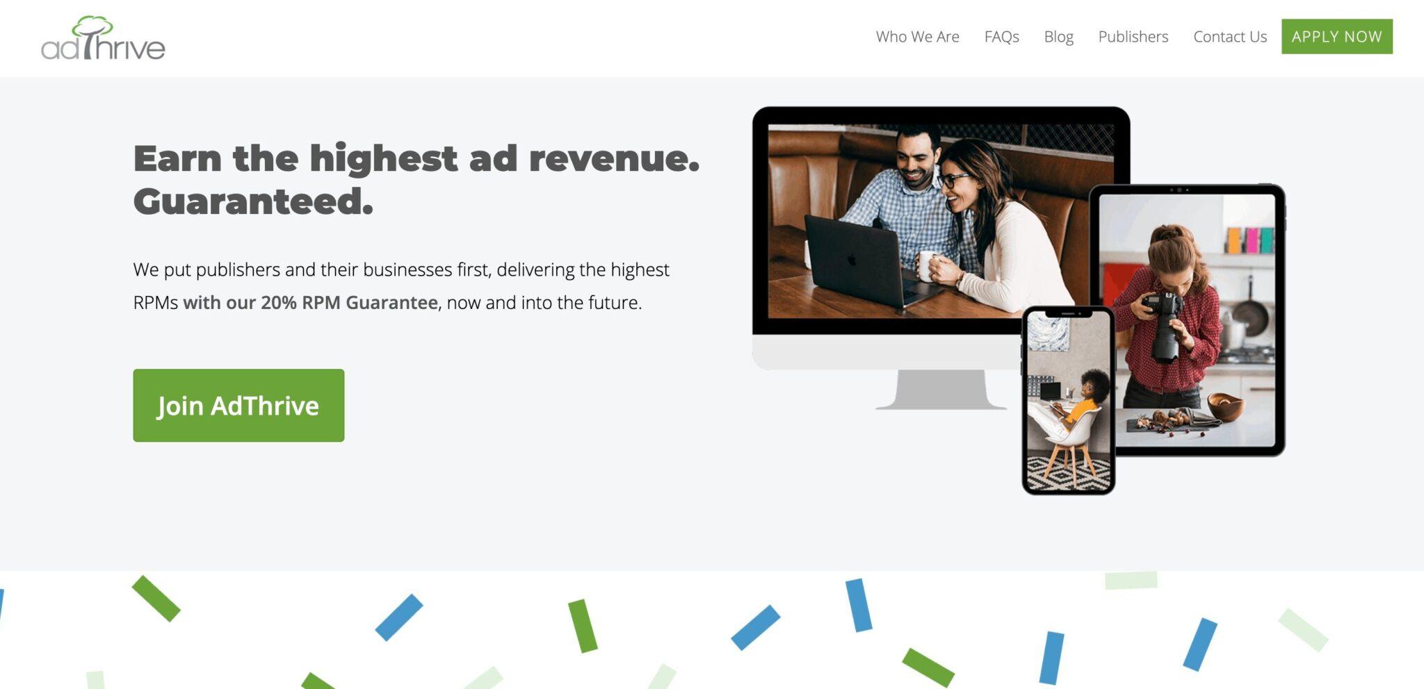 Adthrive, an alternative to Google AdSense
