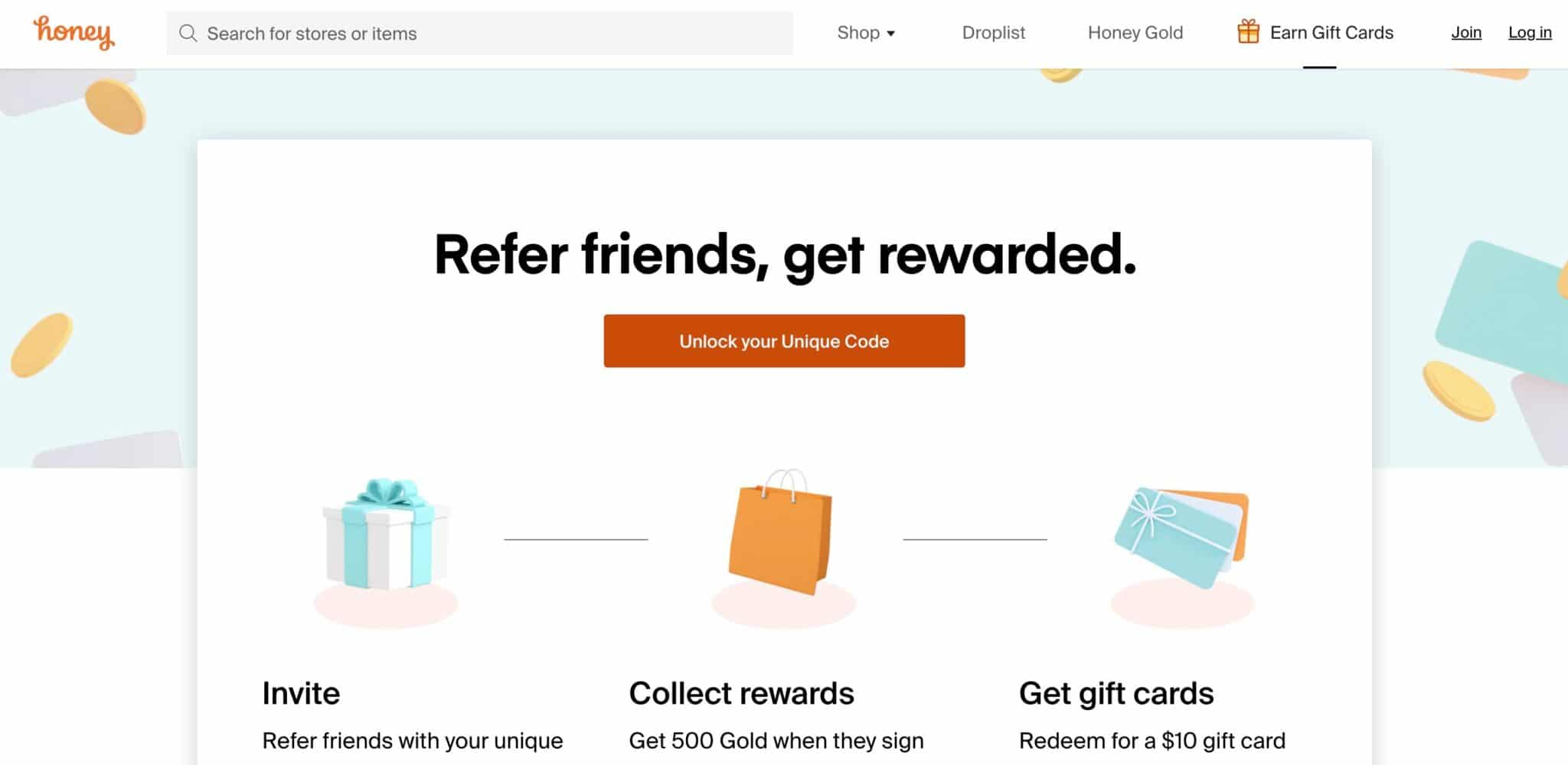 Honey coupon affiliate programs
