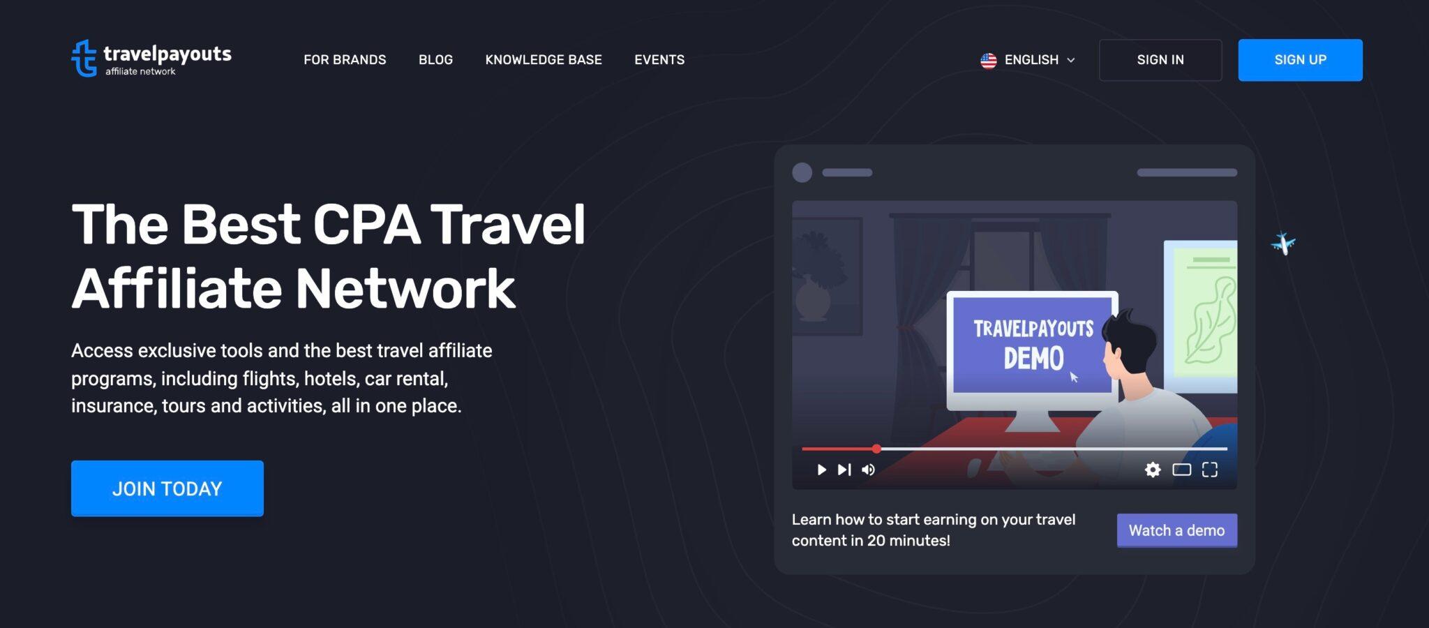 Travel Payouts affiliate program